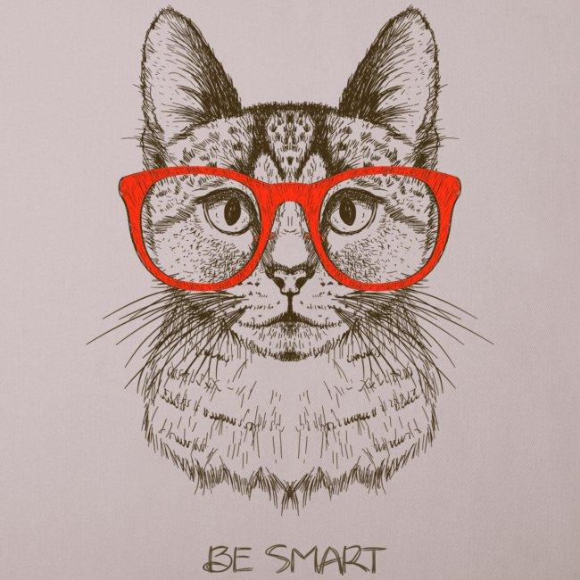 Vorschau: Cat Hipster - Sofakissen mit Füllung 44 x 44 cm