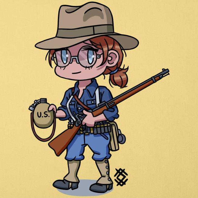 Chibi Span-Am war girl