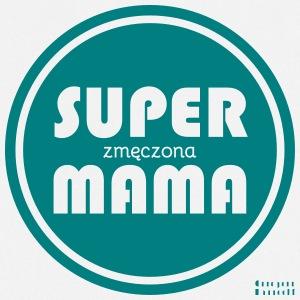 Super mama zmęczona - Fartuch kuchenny