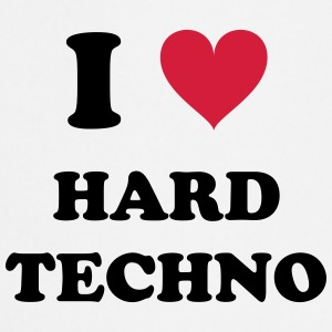 I LOVE HARD TECHNO - Keukenschort