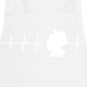 Germany, heartbeat design (I love Germany magnif) - Cooking Apron