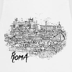 Roma / Rome motif with city sketch - Cooking Apron
