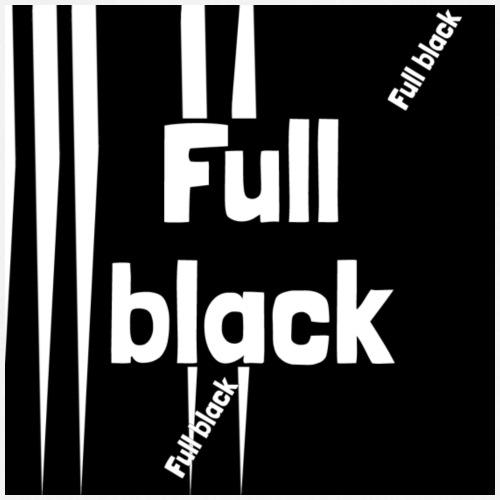 Full black logo - Forklæde
