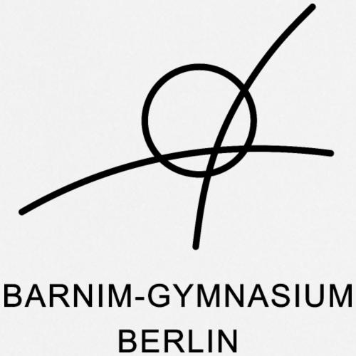 Barnim-Gymnasium - Schullogo (schwarz) - Kochschürze