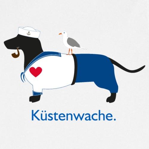 Dackel Küstenwache - Norddeutscher Baywatcher - Kochschürze