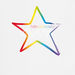 Gay fabolously star colorful rainbow proud respect - Cooking Apron