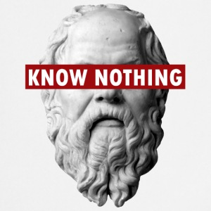 KNOW NOTHING SOCRATES - Grembiule da cucina