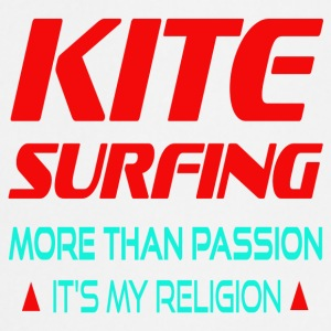 KITESURFING - PLUS DE SA PASSION MA RELIGION - Tablier de cuisine