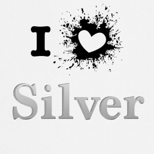 ILove silver sprd - Cooking Apron