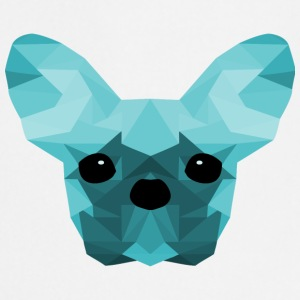 French Bulldog Low Poly Design cyan - Kokkeforkle
