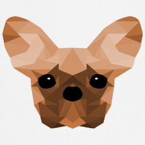French Bulldog Low Poly Design oransje - Kokkeforkle