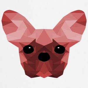 French Bulldog Low Poly Design rød - Kokkeforkle