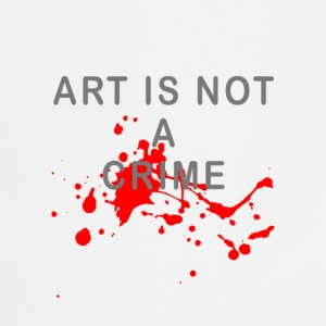 Art is not a crime (blood) - Cooking Apron