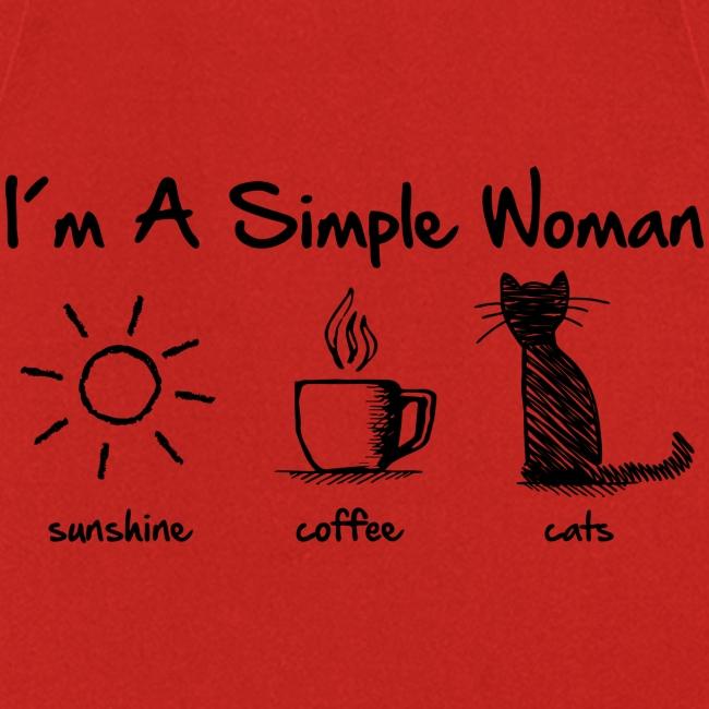 Vorschau: simple woman cats - Kochschürze