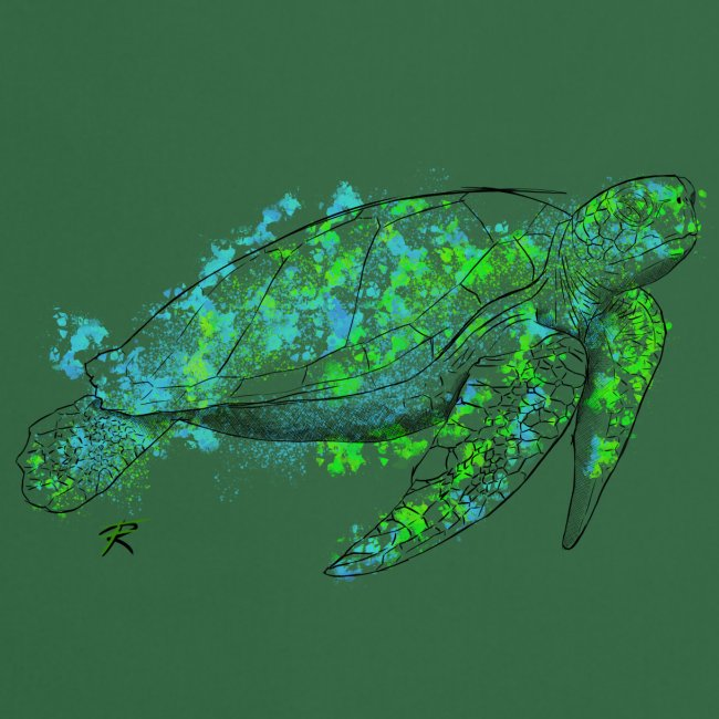 Sea turtle color