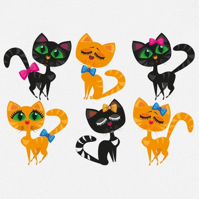 Katzen und Kätzchen majestätisch mit grossen Augen
