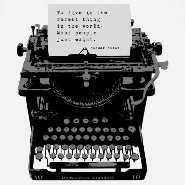 Oscar Wilde Quote on Old Remington 10 Typewriter