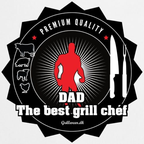 DAD THE BEST GRILL CHEF - Forklæde