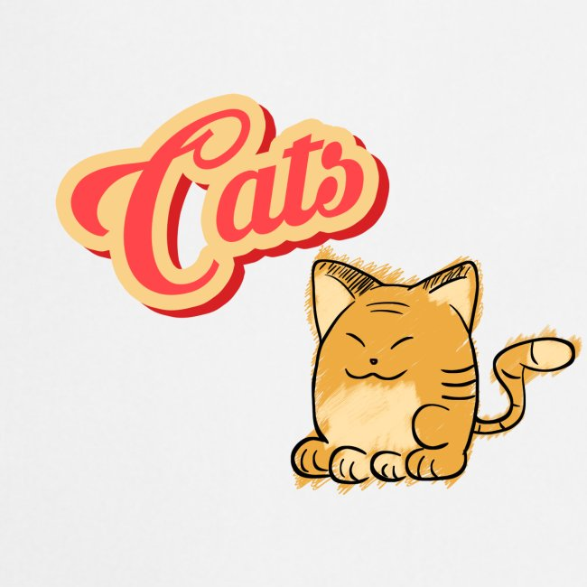 Katze | Katzen süß Schriftzug