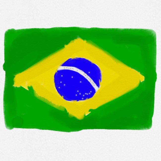 Brazilian flag InWatercolours