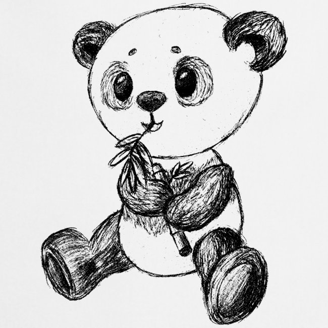 Panda bear black scribblesirii
