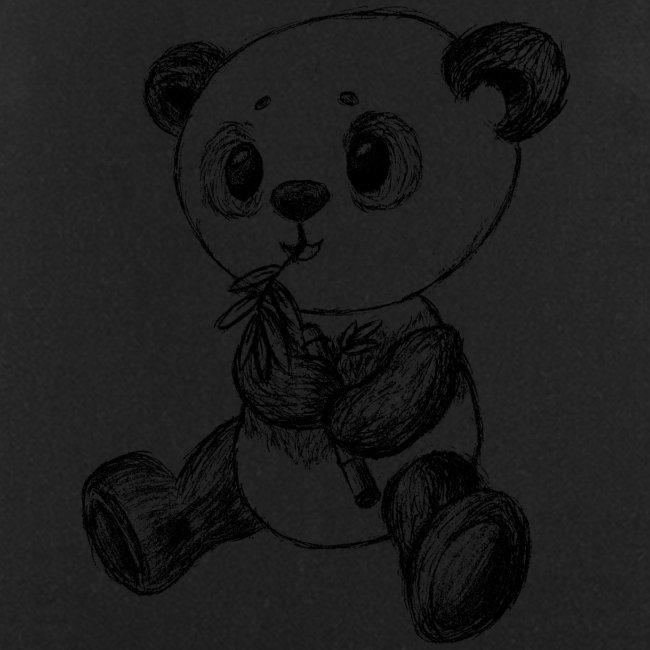 Panda bear black scribblesirii