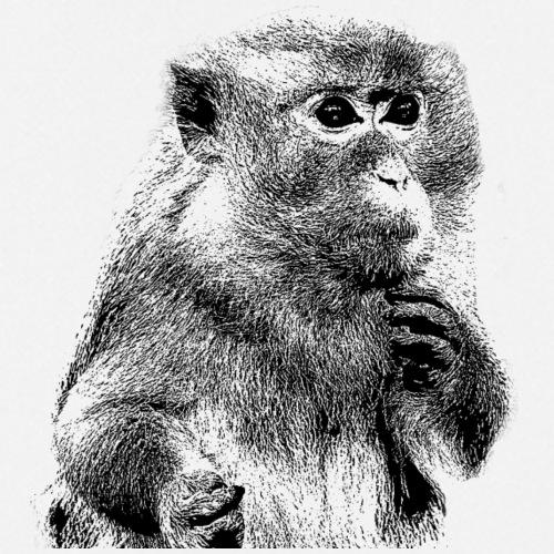 ertappter Affe Zeichnung - Kochschürze