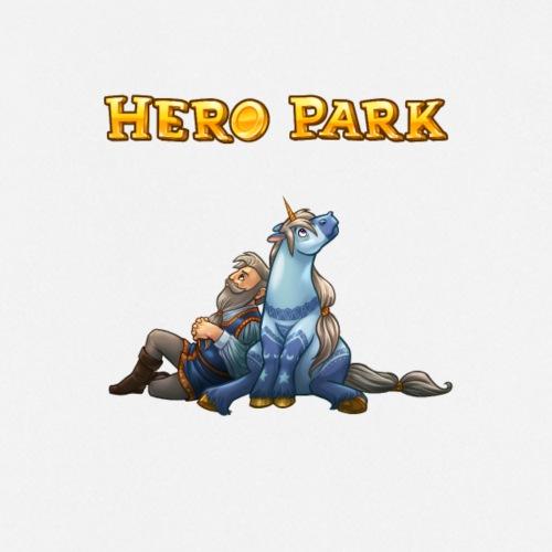 """Hero Park """"Einhorn und Kriegsheld"""" - für Zeugs! - Kochschürze"""