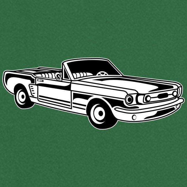 Cabrio / Muscle Car 02_schwarz weiß
