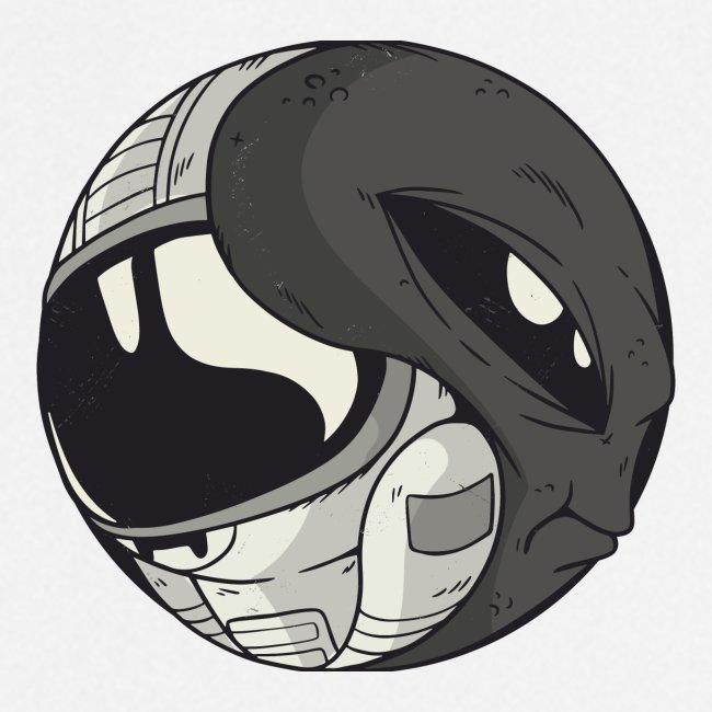 Yin Yang space Alien und Astronaut