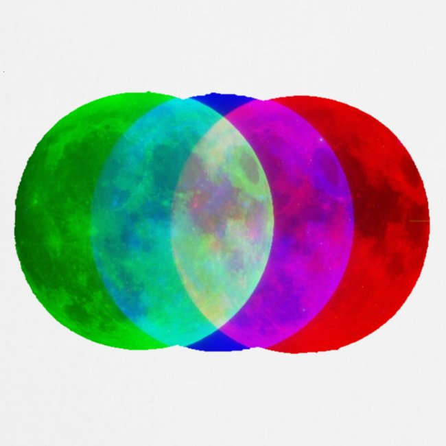 RGB moon