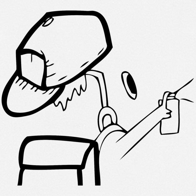 Unsichtbarer Sprayer mit Spraydose und Cap