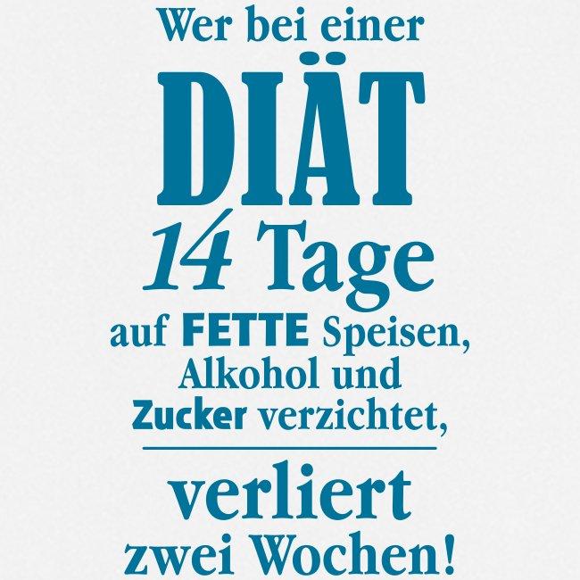 14 Tage Diät Übergewicht Alkohol Zucker fett essen
