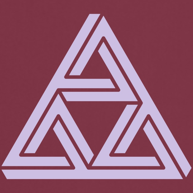 impossible triangle Dreieck Geek Geometrie Hipster