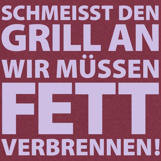 Grill Fett verbrennen Rind Steak Schwein Fleisch