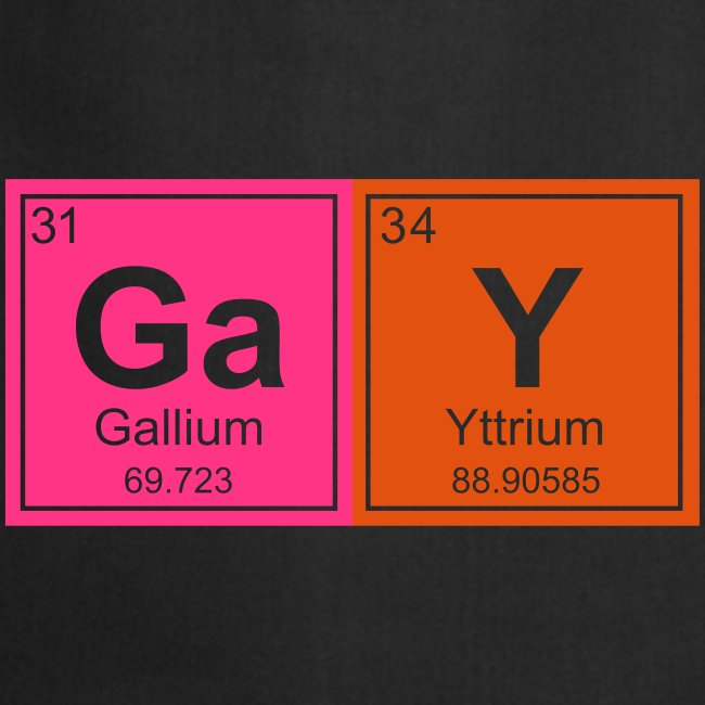 Geeky Gay Periodic Elements