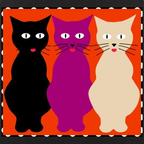 Drei Katzen zeigen Zunge - Kochschürze