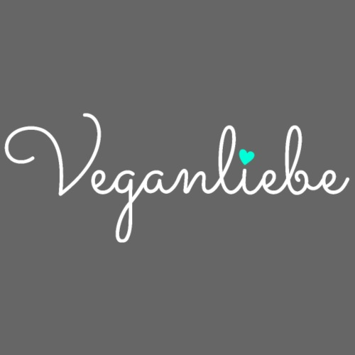 Veganliebe Logo Schriftzug für Veganer - Kochschürze