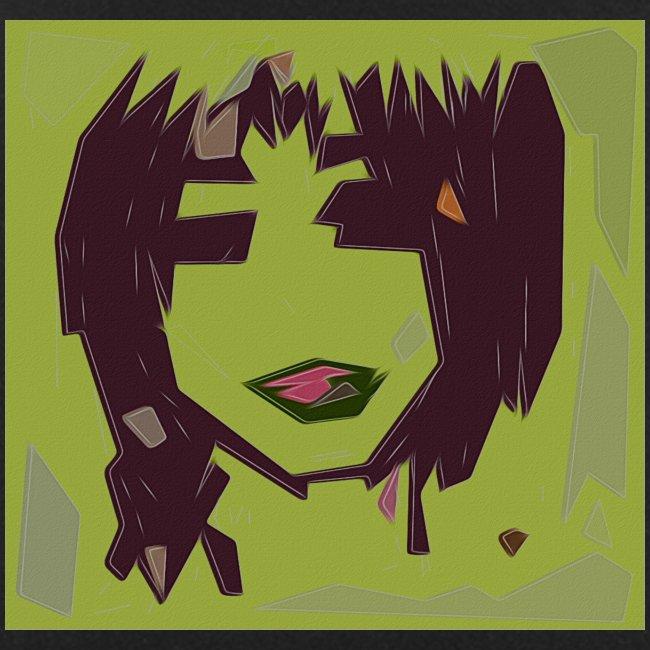 Green brown girl