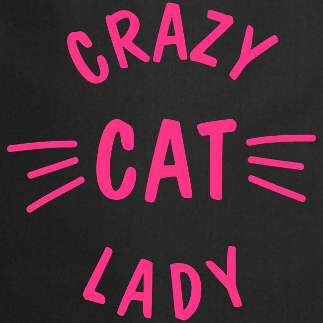 Crazy Cat Lady meow - Kochschürze