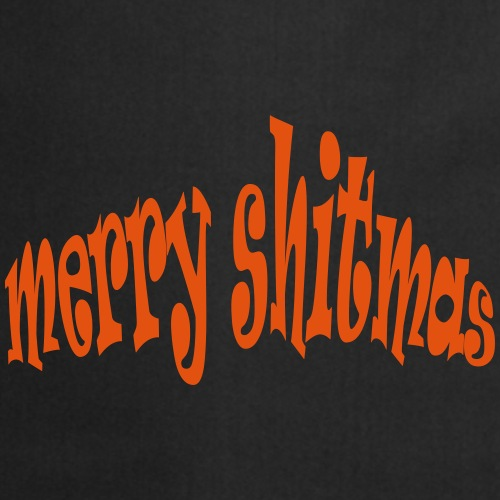 Foute kerst T-shirt Merry Shitmas - Keukenschort