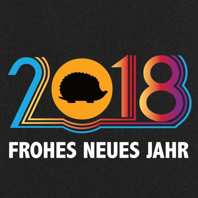 Frohes neues Jahr 2018 Igeldesign
