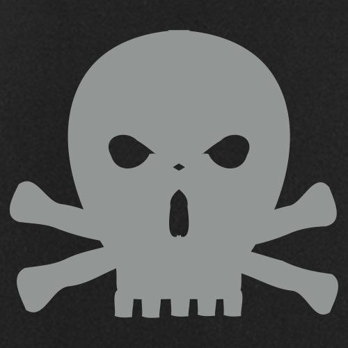 totenkopf skull mit knochen - Kochschürze