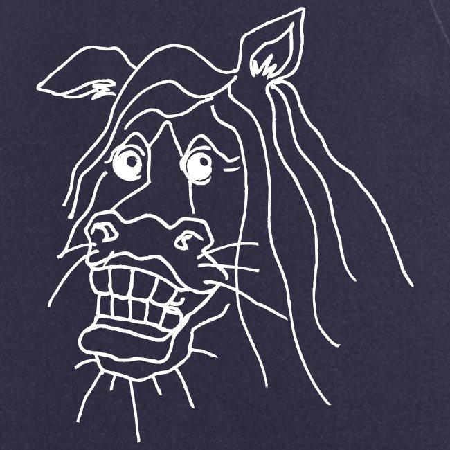 naurava hevonen