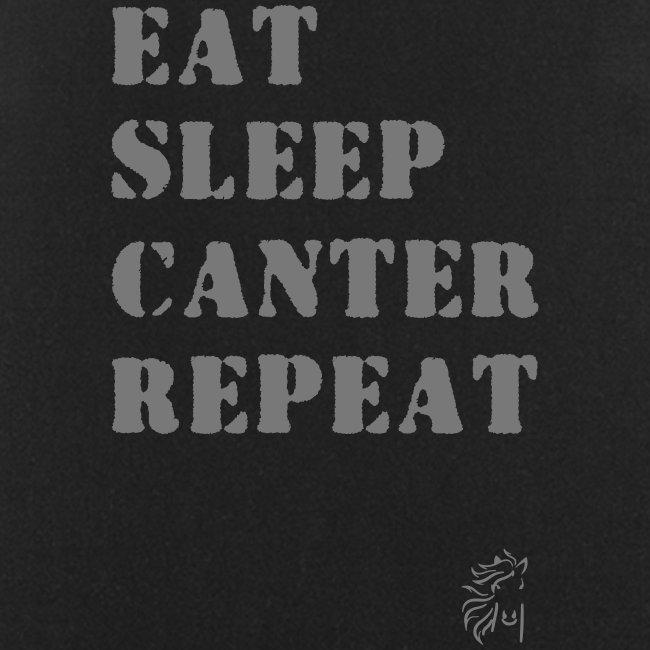 Eat Sleep Canter Repeat - Pferd Reiten VECTOR