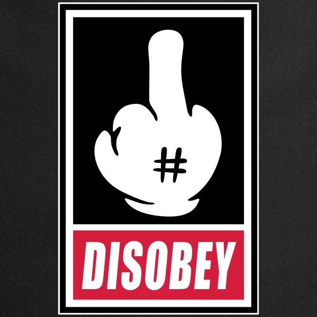 Fck Disobey vector 3 colors