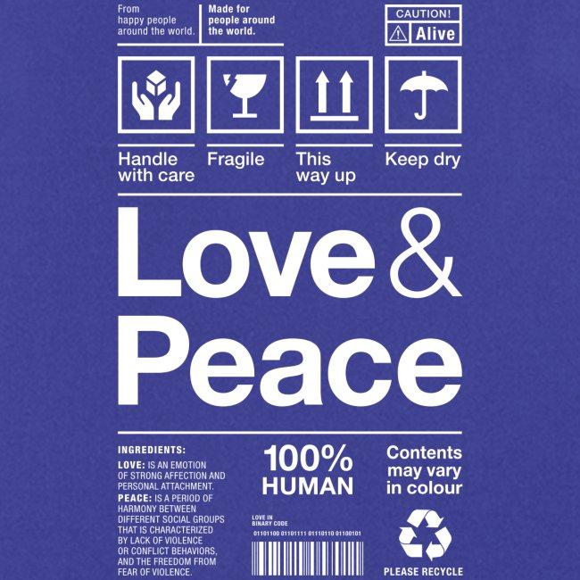 Love & Peace Versandetikett Paketaufkleber Frieden