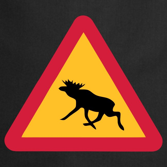 Warnung Elch! Älg! Moose! Schweden Sweden (vektor)