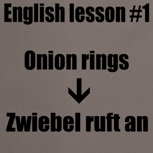 english lesson #1 - Kochschürze