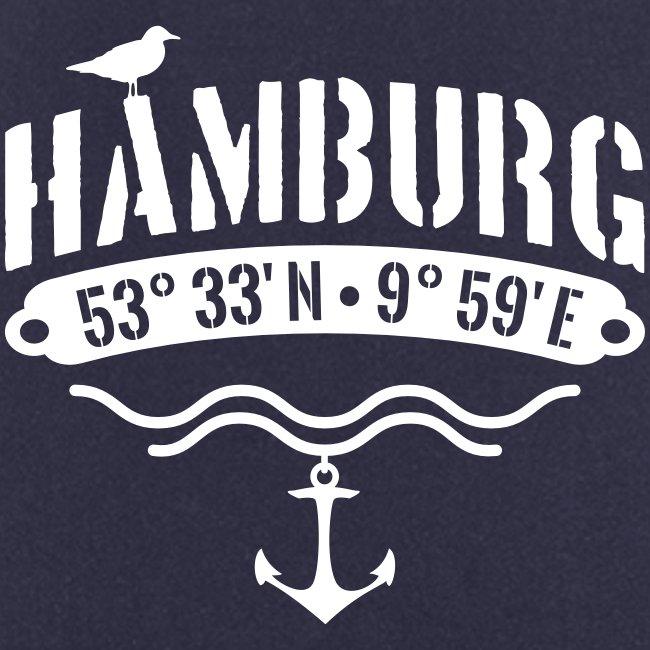 Hamburg Koordinaten Anker Möwe Längengrad